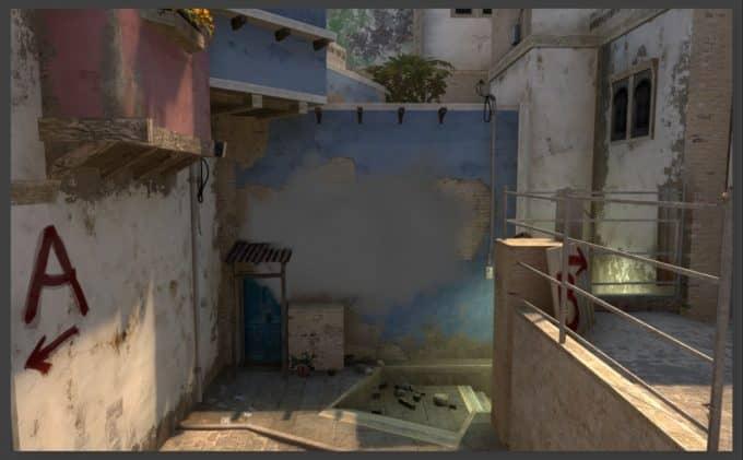 Дымы на карте de_mirage (часть 1)