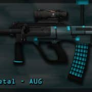 Blue Metal - AUG Модель CS:GO
