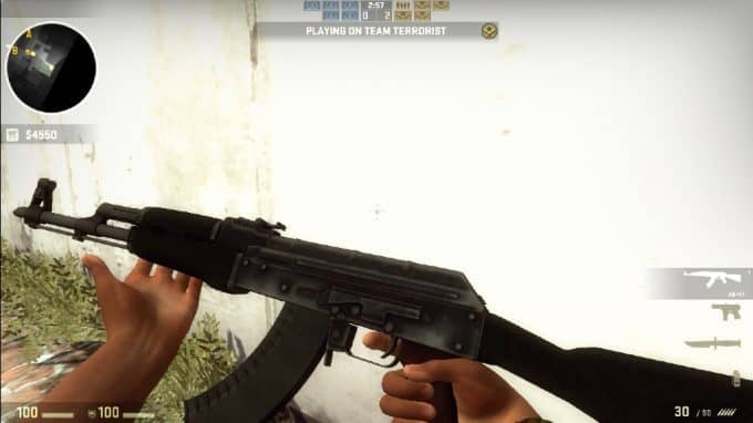 Default Ak47 Black Furniture Модель CS:GO