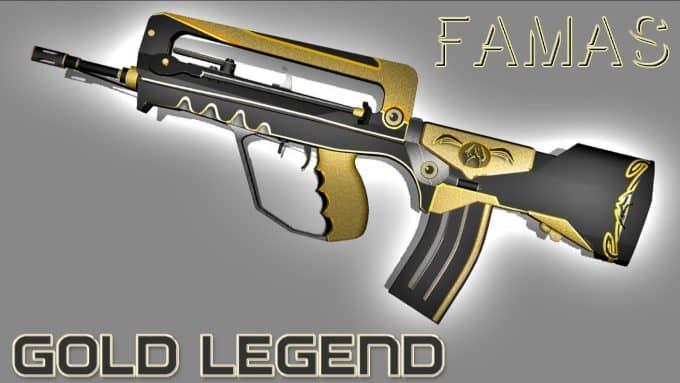 FAMAS - Gold Legend Модель CS:GO