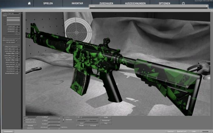 M4A4 - Green Bioharzed Модель CS:GO