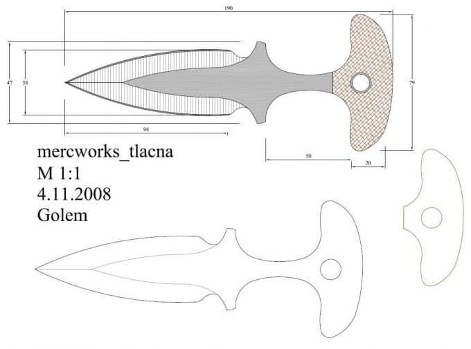 Чертеж тычковых ножей в кс го