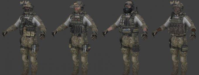 Call of Duty modern warfare 3 скин игроков CS:S