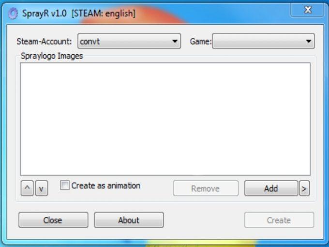 Программа конвертации картинки в спрей для CS:S